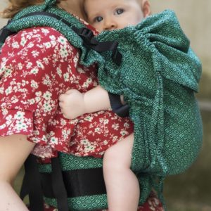 mochila huggyberry baby diamond esmeralda